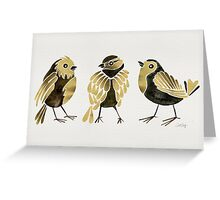24-Karat Goldfinches Greeting Card