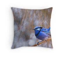 Blue Song Throw Pillow