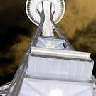 Seattle Space Needle...a positive perspective by SilverLilyMoon