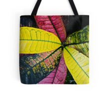 Colorful Abstract Botantical Leaves Tote Bag
