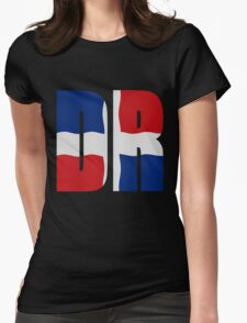 Flag Dominican Republic Womens Fitted T-Shirt