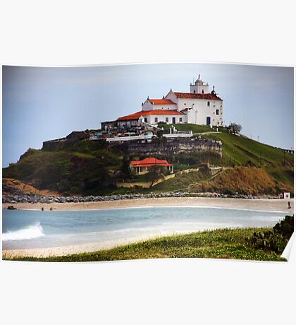 Saquarema's Church - Beach - Brazil Poster