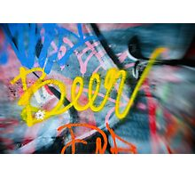 Abstract Graffiti Wall Art Photography - Have a Beer! Photographic Print