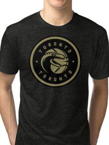 Dino Crest Gold Tri-blend T-Shirt