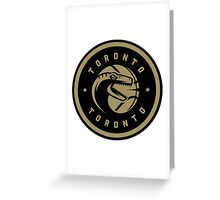Dino Crest Gold Greeting Card