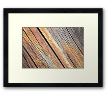 Weathered Wood Photography Framed Print