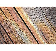 Weathered Wood Photography Photographic Print