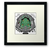 Piloted by CTHULHU Framed Print