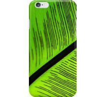 Bright Colored Abstract Palm Tree Leaf iPhone Case/Skin