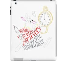 White Rabbit - I'm Late... iPad Case/Skin