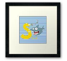 s for shark Framed Print