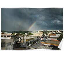 Storm and Rainbow Poster
