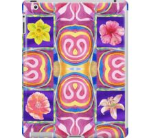Floral Collage With Daffodil Hibiscus Poppy Lily iPad Case/Skin