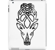 Skyrim Distressed Falkreath Logo B&W iPad Case/Skin