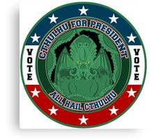 Cthulhu for President Canvas Print