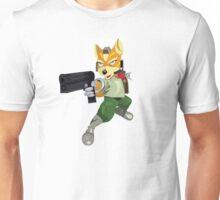 Nintendo Fox McCloud StarFox Melee Design Unisex T-Shirt