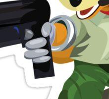 Nintendo Fox McCloud StarFox Melee Design Sticker