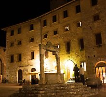 San Gimignano at night by awiseman