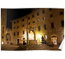 San Gimignano at night Poster