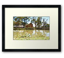 Tranquil Reflections at Psyche Pumps  Framed Print