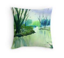 River Derwent in Winter Throw Pillow
