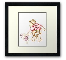 Winnie the Pooh and Piglet  Framed Print