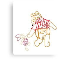Winnie the Pooh and Piglet  Canvas Print