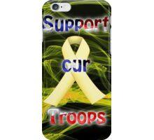 Yellow Ribbon Troop Awareness iPhone Case/Skin
