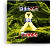 Yellow Ribbon Troop Awareness Canvas Print