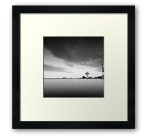 industrial reflection Framed Print