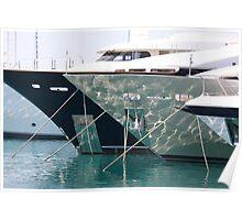 Mega Yachts Nice Poster