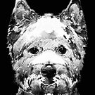 Black And White West Highland Terrier Dog Art Sharon Cummings by Sharon Cummings