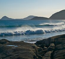 Wilson Promontory, Evening surf. by johnrf