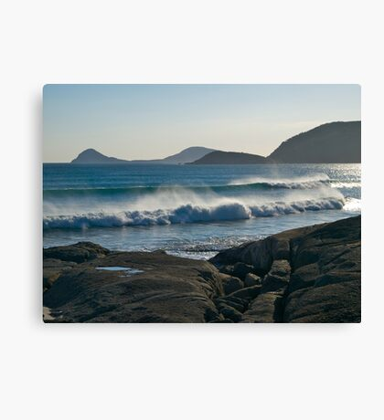 Wilson Promontory, Evening surf. Canvas Print