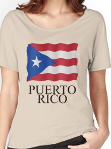 Puerto Rican flag Women's Relaxed Fit T-Shirt