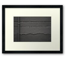 Perpendicular and parallel in grey Framed Print