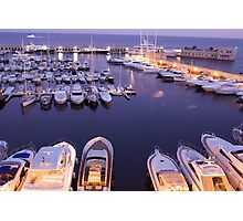 Cap D'Ail Harbour Photographic Print