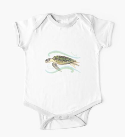 Green Turtle (Chelonia mydas) One Piece - Short Sleeve