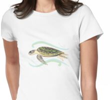 Green Turtle (Chelonia mydas) Womens Fitted T-Shirt