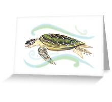 Green Turtle (Chelonia mydas) Greeting Card
