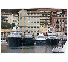 Yachts in Nice Port Poster