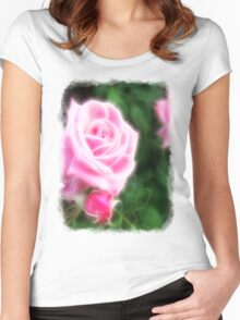 Pink Roses in Anzures 1 Angelic Women's Fitted Scoop T-Shirt