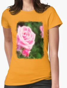 Pink Roses in Anzures 1 Angelic Womens Fitted T-Shirt