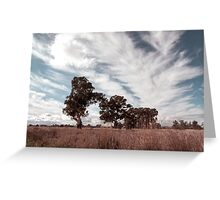 Watching clouds float across the sky Greeting Card