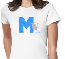 m for mouse Womens Fitted T-Shirt