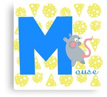 m for mouse Canvas Print