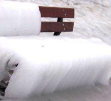 Frozen Bench  Sticker