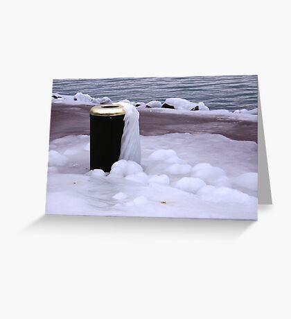 Frozen Bin  Greeting Card
