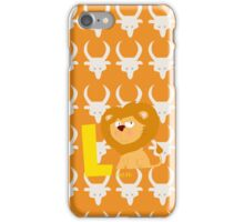 l for lion iPhone Case/Skin