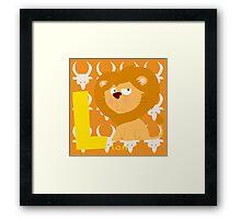 l for lion Framed Print